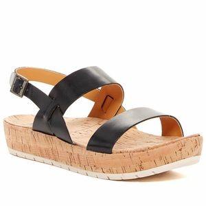 Korks Kork Ease Janine Leather Platform Sandals